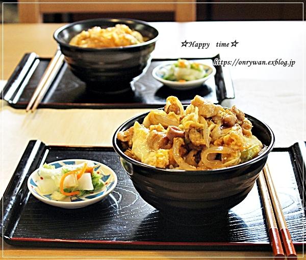 おうちランチは親子丼とさくらふるフラぺチーノ♪_f0348032_18040724.jpg