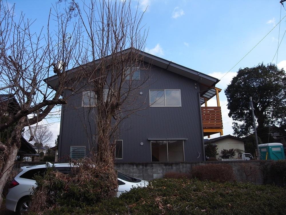 笠間の家Ⅲ 足場撤去 2019/2/20_a0039934_14391251.jpg