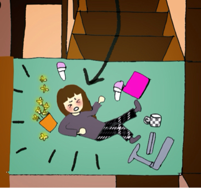 階段踏み外し落下_b0392383_09463886.jpg