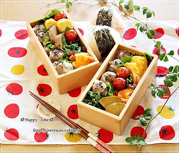 シュウマイ弁当とカレー風味ロールキャベツ♪_f0348032_17414775.jpg