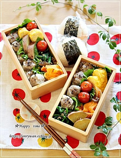 シュウマイ弁当とカレー風味ロールキャベツ♪_f0348032_17415458.jpg