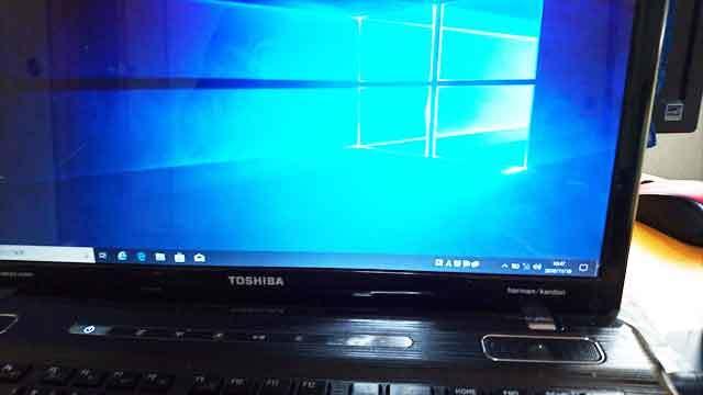 福岡市中央区警固: 東芝ノートパソコン Windows 10 のインストール
