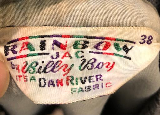 2月23日(土)入荷!50s~DAN RIVER FABRIC  BILLY BOY RAINBOW JACKET!_c0144020_13515907.jpg