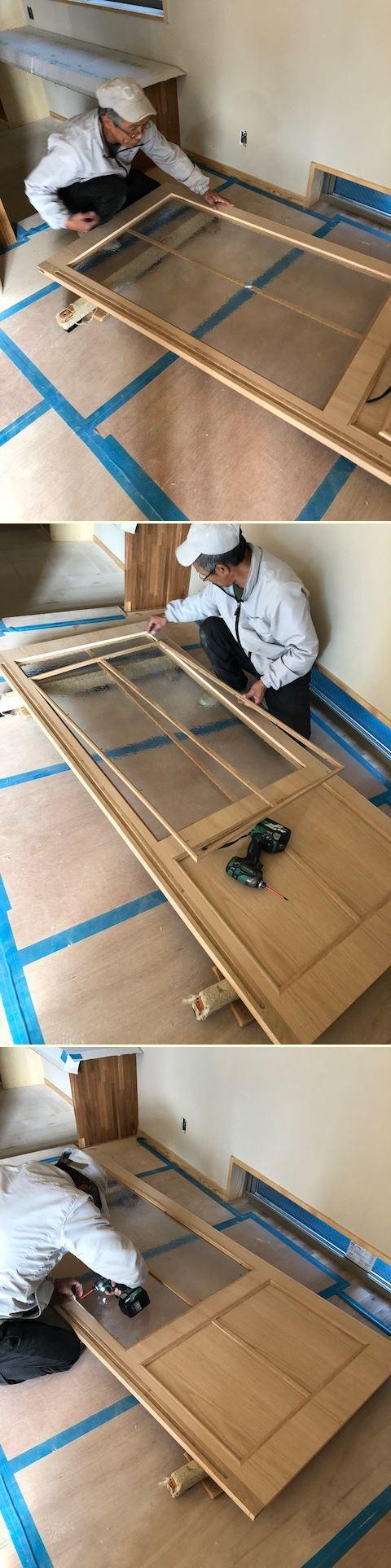 厚木市妻田の家☆建具工事が始まっていました_c0152341_15142894.jpg