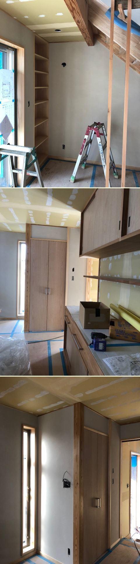 厚木市妻田の家☆建具工事が始まっていました_c0152341_15154343.jpg