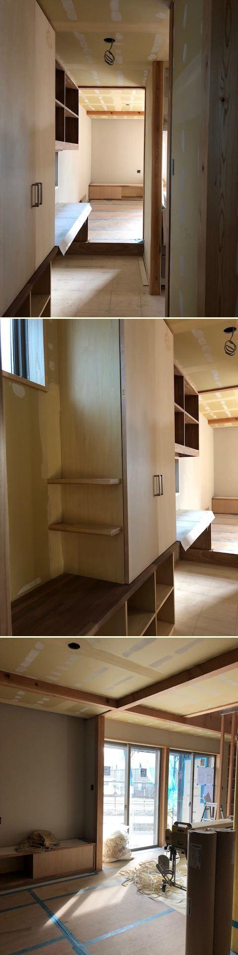 厚木市妻田の家☆建具工事が始まっていました_c0152341_15161718.jpg