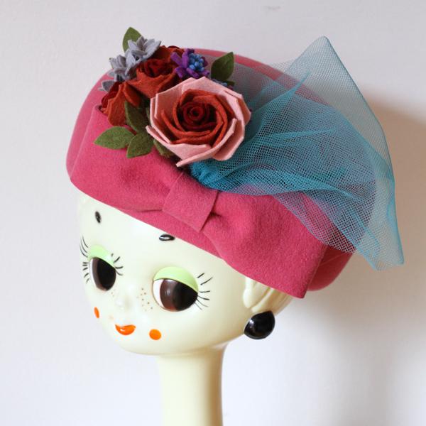 ピンクの帽子が完成しました_e0333647_15055507.jpg
