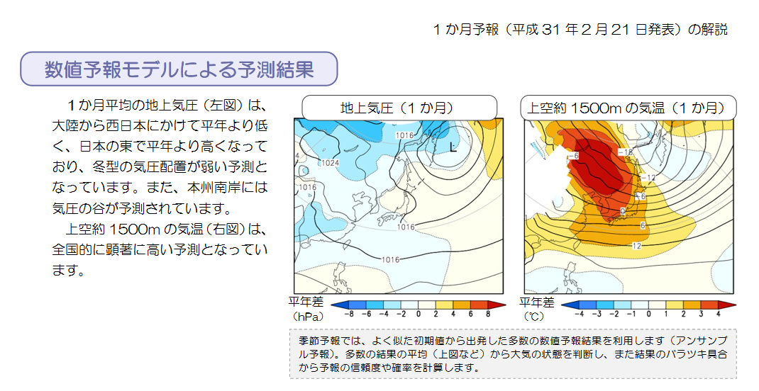 ECMWF Geopotential 500 hPa and temperature at 850 hPa(2019年2月22日版)+1ヶ月予報_e0037849_20235231.png