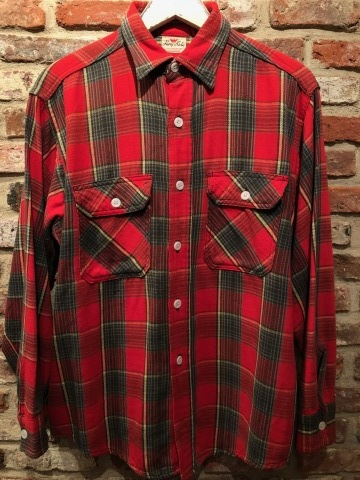 """Late 1960s \"""" KING KOLE \"""" 100% cotton Vintage HEAVY-FLANNEL SHIRTS ※ OLD コンチョ 新入荷 致します!_d0172088_17491350.jpg"""