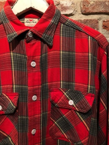 """Late 1960s \"""" KING KOLE \"""" 100% cotton Vintage HEAVY-FLANNEL SHIRTS ※ OLD コンチョ 新入荷 致します!_d0172088_17494490.jpg"""