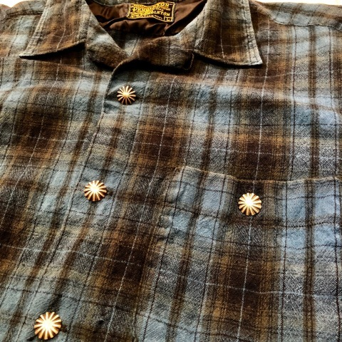 """Late 1960s \"""" KING KOLE \"""" 100% cotton Vintage HEAVY-FLANNEL SHIRTS ※ OLD コンチョ 新入荷 致します!_d0172088_18363876.jpg"""