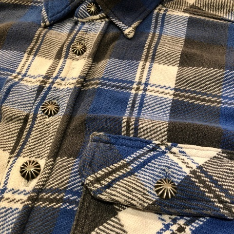 """Late 1960s \"""" KING KOLE \"""" 100% cotton Vintage HEAVY-FLANNEL SHIRTS ※ OLD コンチョ 新入荷 致します!_d0172088_18383375.jpg"""