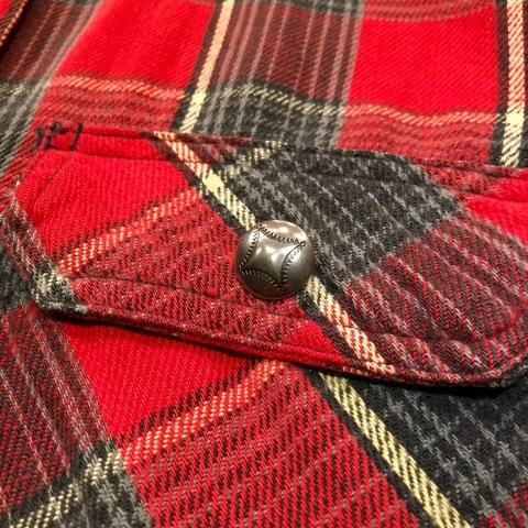 """Late 1960s \"""" KING KOLE \"""" 100% cotton Vintage HEAVY-FLANNEL SHIRTS ※ OLD コンチョ 新入荷 致します!_d0172088_18562338.jpg"""