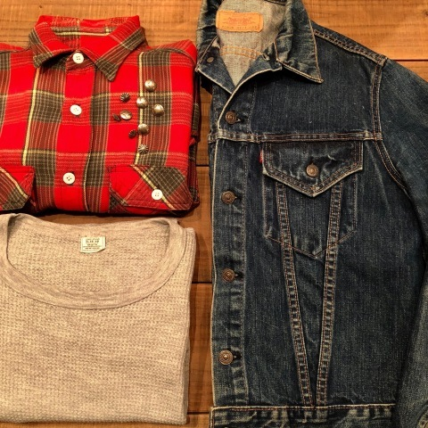 """Late 1960s \"""" KING KOLE \"""" 100% cotton Vintage HEAVY-FLANNEL SHIRTS ※ OLD コンチョ 新入荷 致します!_d0172088_20023210.jpg"""