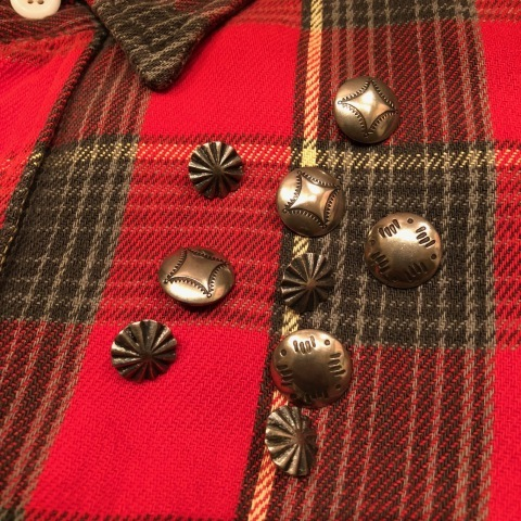 """Late 1960s \"""" KING KOLE \"""" 100% cotton Vintage HEAVY-FLANNEL SHIRTS ※ OLD コンチョ 新入荷 致します!_d0172088_20041182.jpg"""