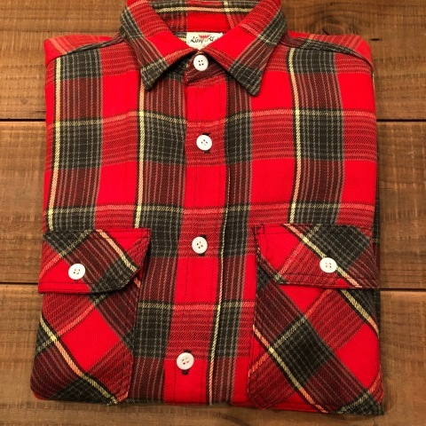 """Late 1960s \"""" KING KOLE \"""" 100% cotton Vintage HEAVY-FLANNEL SHIRTS ※ OLD コンチョ 新入荷 致します!_d0172088_21315508.jpg"""