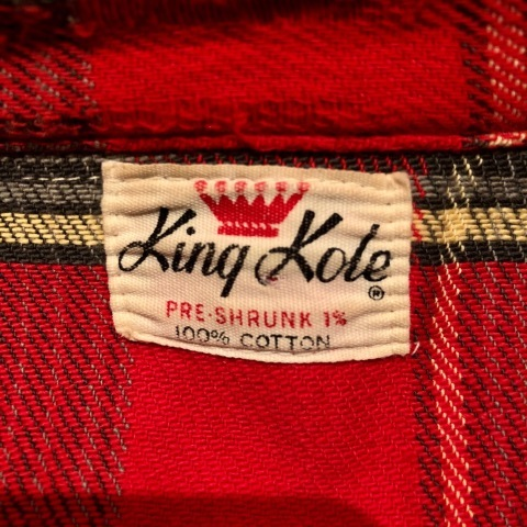"""Late 1960s \"""" KING KOLE \"""" 100% cotton Vintage HEAVY-FLANNEL SHIRTS ※ OLD コンチョ 新入荷 致します!_d0172088_21330208.jpg"""