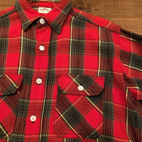 """Late 1960s \"""" KING KOLE \"""" 100% cotton Vintage HEAVY-FLANNEL SHIRTS ※ OLD コンチョ 新入荷 致します!_d0172088_21340139.jpg"""