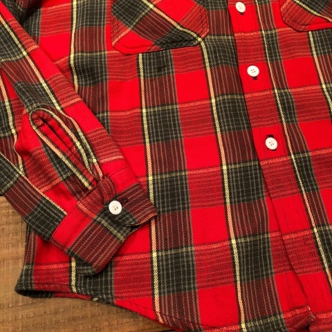 """Late 1960s \"""" KING KOLE \"""" 100% cotton Vintage HEAVY-FLANNEL SHIRTS ※ OLD コンチョ 新入荷 致します!_d0172088_21361828.jpg"""