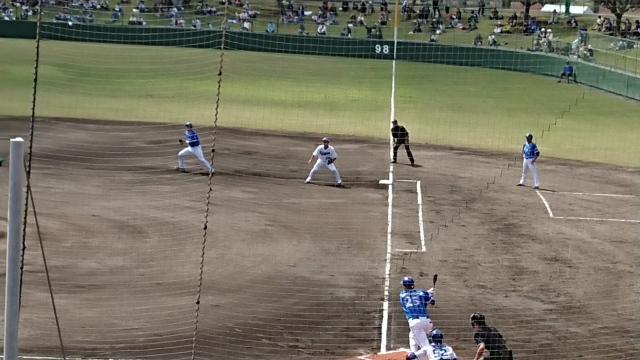 北谷公園野球場でオープン戦!_b0148044_13091850.jpg