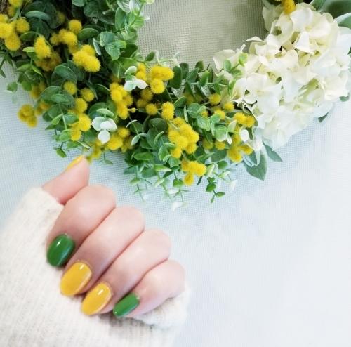 3月8日・ミモザの日 * ミモザカラーの春ネイル♪_f0236260_11164622.jpg