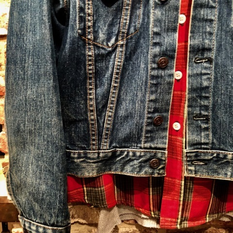 """Late 1960s \"""" KING KOLE \"""" 100% cotton Vintage HEAVY-FLANNEL SHIRTS ※ OLD コンチョ 新入荷 致します!_d0172088_15092666.jpg"""