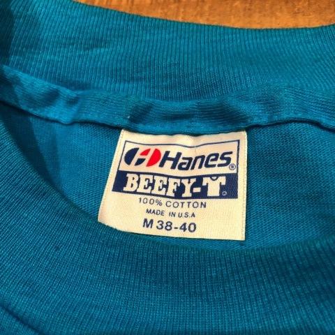 "1983 \"" HANES - BEEFY T - \"" 100% cotton - HAWAII souvenir - VINTAGE Tee SHIRTS - OCEAN BLUE - ._d0172088_22401693.jpg"