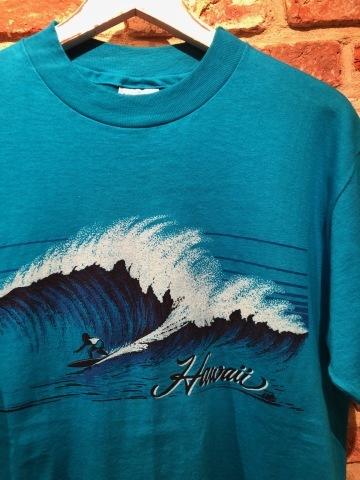 "1983 \"" HANES - BEEFY T - \"" 100% cotton - HAWAII souvenir - VINTAGE Tee SHIRTS - OCEAN BLUE - ._d0172088_22491871.jpg"