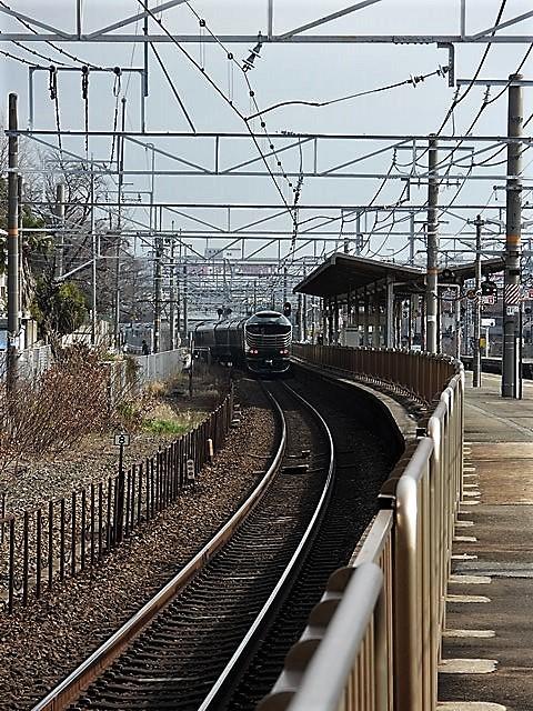 藤田八束の鉄道写真@山崎カーブからのトワイライトエキスプレス「瑞風」を激写、特急「はるか」はキティちゃんラップ_d0181492_22065683.jpg