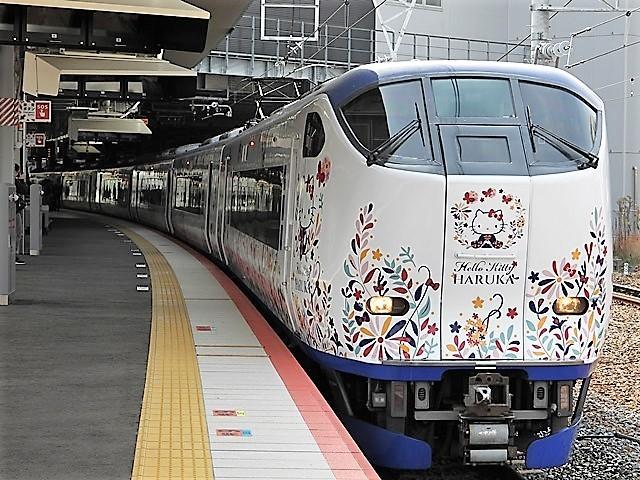 藤田八束の鉄道写真@山崎カーブからのトワイライトエキスプレス「瑞風」を激写、特急「はるか」はキティちゃんラップ_d0181492_22122338.jpg