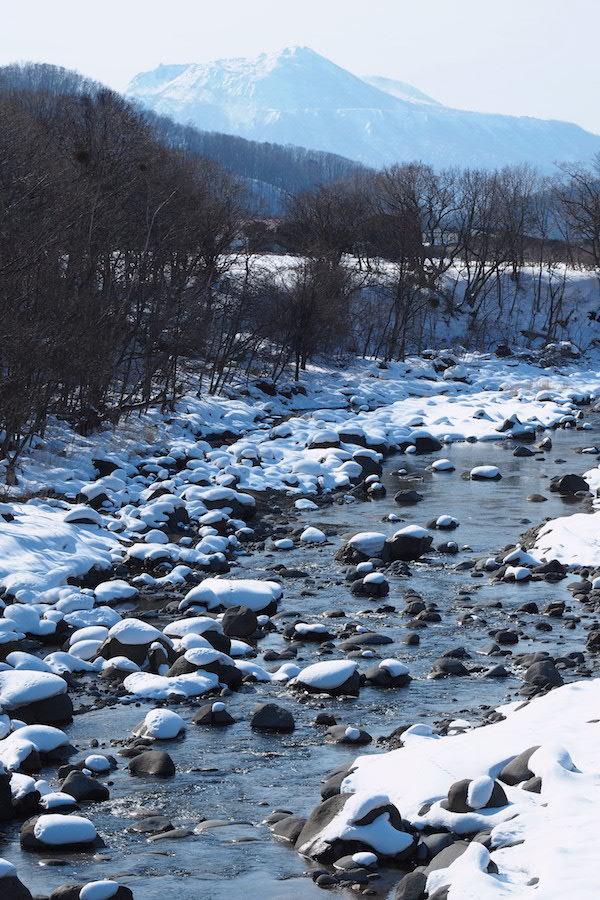 川の水面に雪の造形_b0068572_21413036.jpg