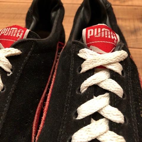 """Early-Mid 1980s \"""" PUMA \"""" - SUEDE model - VINTAGE SUEDE SNEAKER - BLACK × RED - ._d0172088_22244021.jpg"""