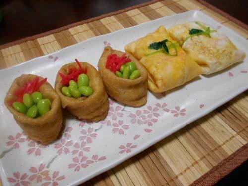 ふくさ寿司&飾りいなり寿司の練習_f0019498_22164059.jpg