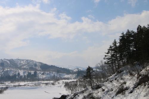 恋人の聖地・白川ダム湖畔の十四郷橋からの景色、2019.2.23_c0075701_18375730.jpg