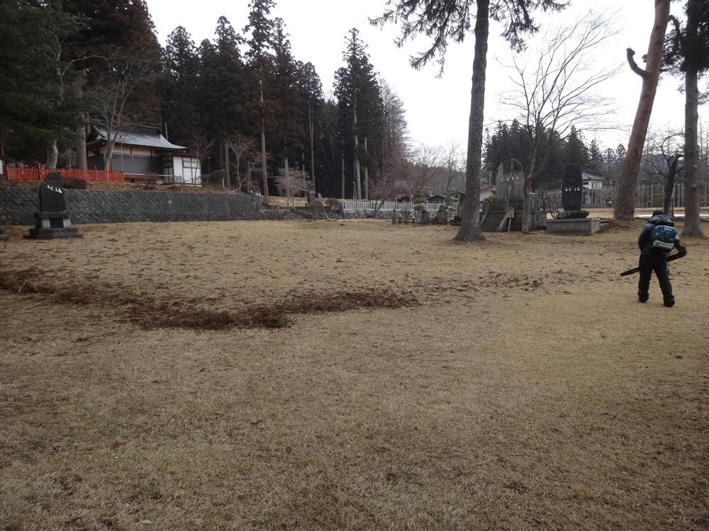 馬場の掃除開始_c0111229_18481664.jpg
