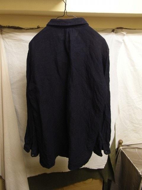 洗いました / classic frenchwork indigoheavylinen shirt_e0130546_19123054.jpg