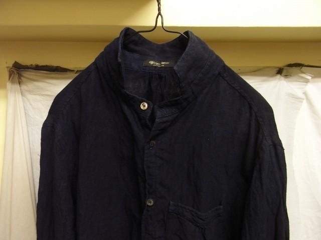 洗いました / classic frenchwork indigoheavylinen shirt_e0130546_19124876.jpg