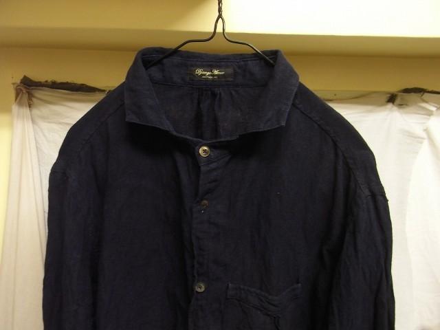 洗いました / classic frenchwork indigoheavylinen shirt_e0130546_19130432.jpg
