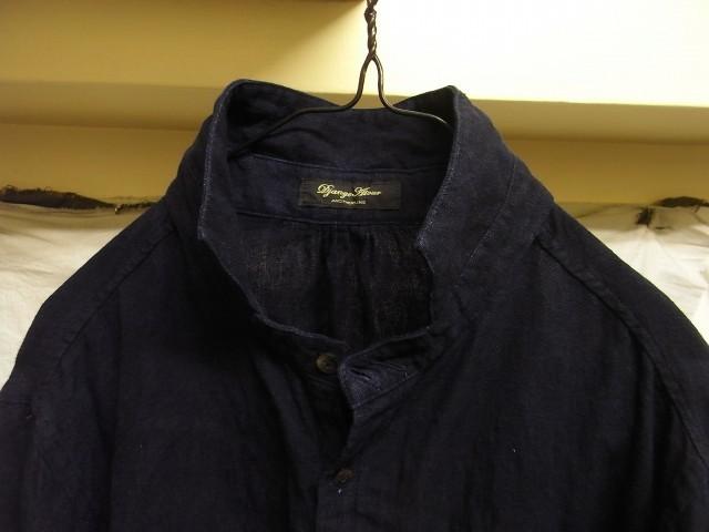 洗いました / classic frenchwork indigoheavylinen shirt_e0130546_19131783.jpg