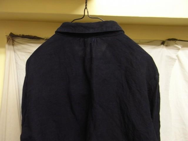 洗いました / classic frenchwork indigoheavylinen shirt_e0130546_19133267.jpg