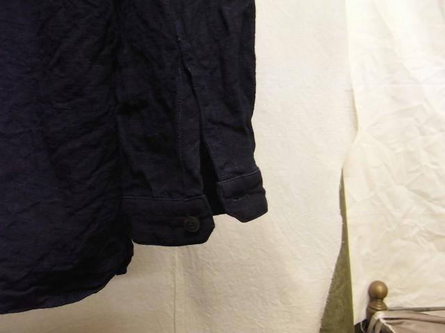 洗いました / classic frenchwork indigoheavylinen shirt_e0130546_19134645.jpg
