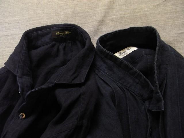 洗いました / classic frenchwork indigoheavylinen shirt_e0130546_19140267.jpg