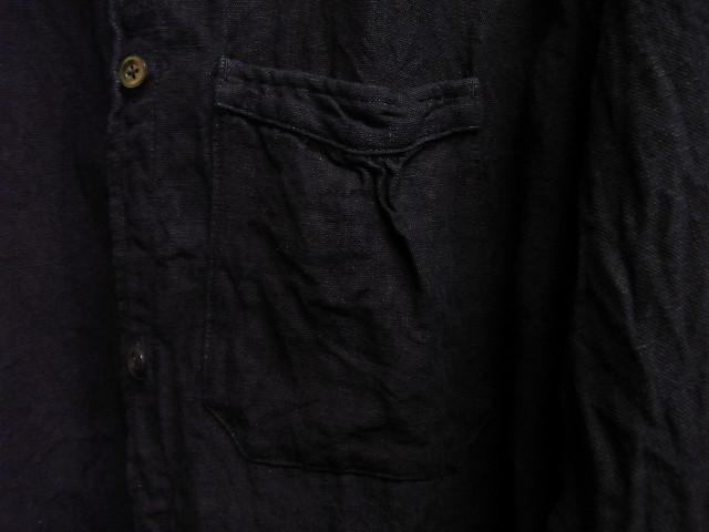 洗いました / classic frenchwork indigoheavylinen shirt_e0130546_19150844.jpg