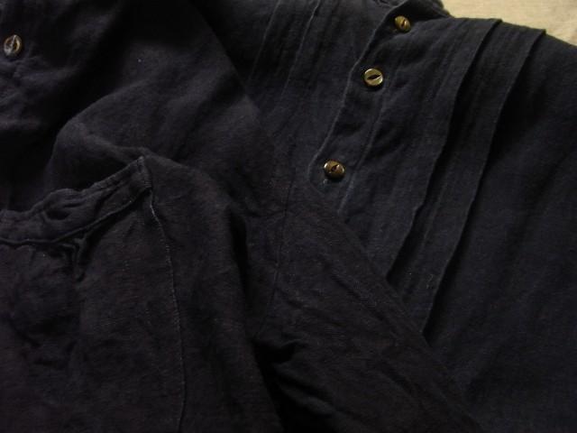 洗いました / classic frenchwork indigoheavylinen shirt_e0130546_19154122.jpg