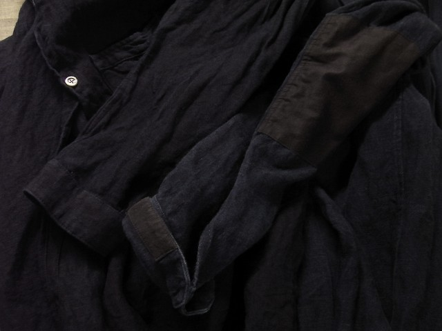 洗いました / classic frenchwork indigoheavylinen shirt_e0130546_19155732.jpg