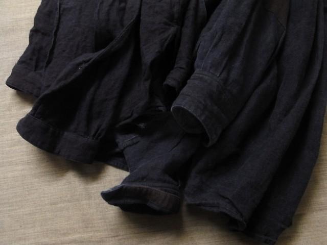 洗いました / classic frenchwork indigoheavylinen shirt_e0130546_19162481.jpg