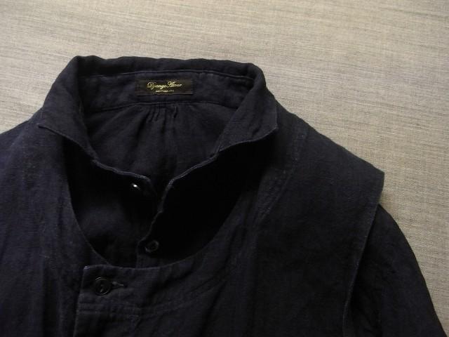 洗いました / classic frenchwork indigoheavylinen shirt_e0130546_19172199.jpg