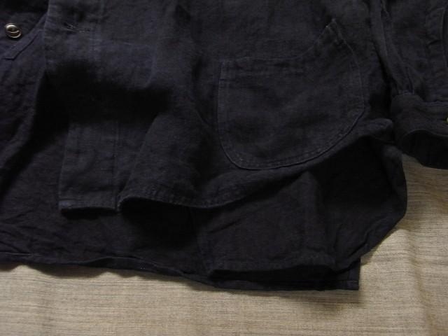 洗いました / classic frenchwork indigoheavylinen shirt_e0130546_19173597.jpg