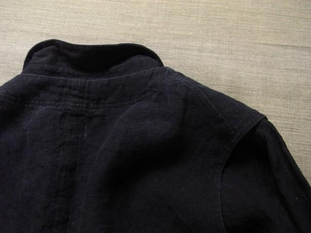 洗いました / classic frenchwork indigoheavylinen shirt_e0130546_19175296.jpg