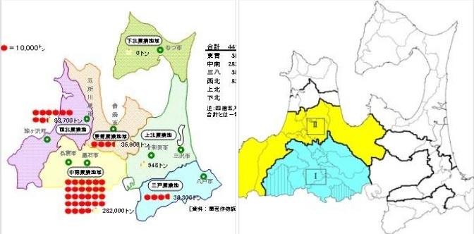 青天の霹靂もりんごも、ほぼ津軽平野で栽培されている_d0061678_12384712.jpg